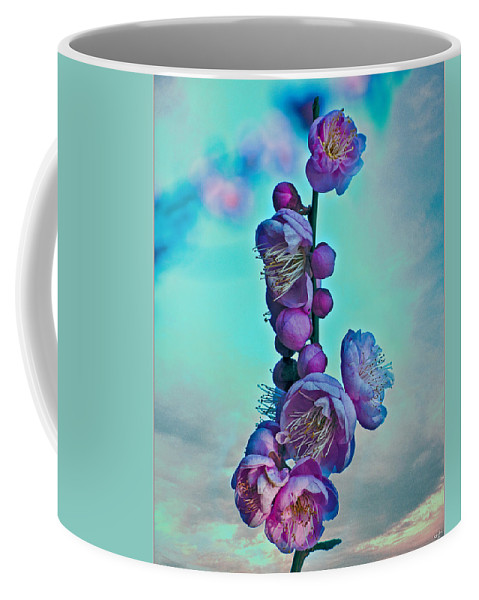 Cheery Coffee Mug featuring the photograph Cherry Stems by Chris Lord