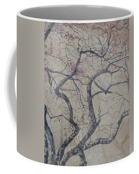 Crab Apple Coffee Mug featuring the painting Prairie Fire by Leah Tomaino