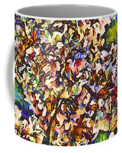 Cherry Blossoms Coffee Mug featuring the photograph Cherryvangogh by Alice Gipson