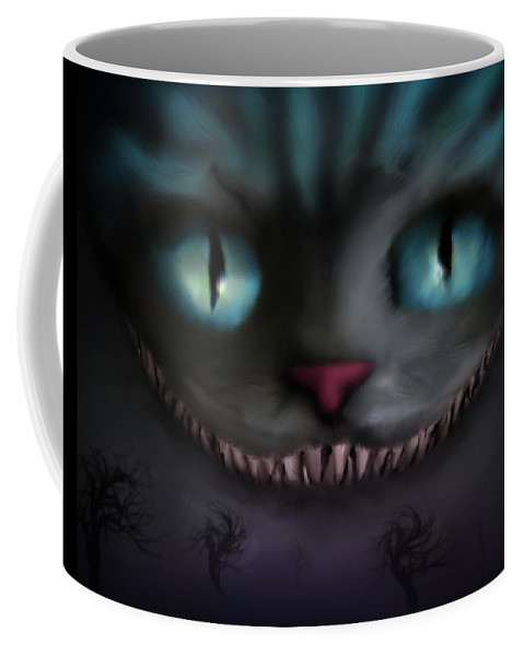 Cheshire Coffee Mug featuring the digital art Cheshire by Shannon Combs