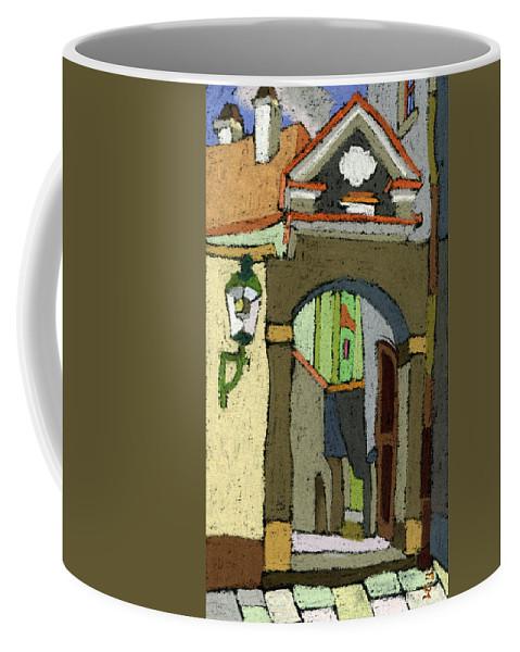 Pastel Coffee Mug featuring the painting Chesky Krumlov Old Street Latran by Yuriy Shevchuk