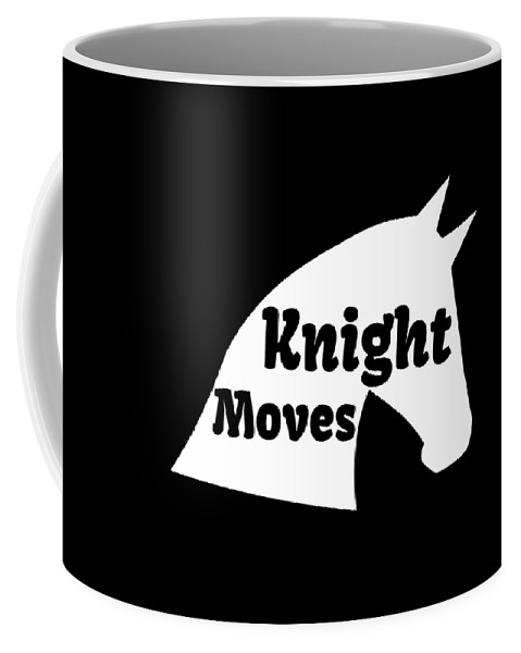 Chess-club Coffee Mug featuring the drawing Chess Player Gift Knight Moves Horse Lover Chess Lover by Kanig Designs