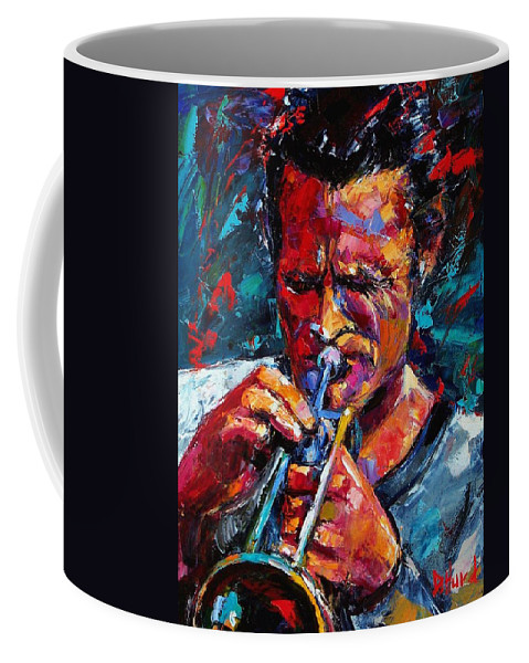 Chet Baker Coffee Mug featuring the painting Chet Baker by Debra Hurd