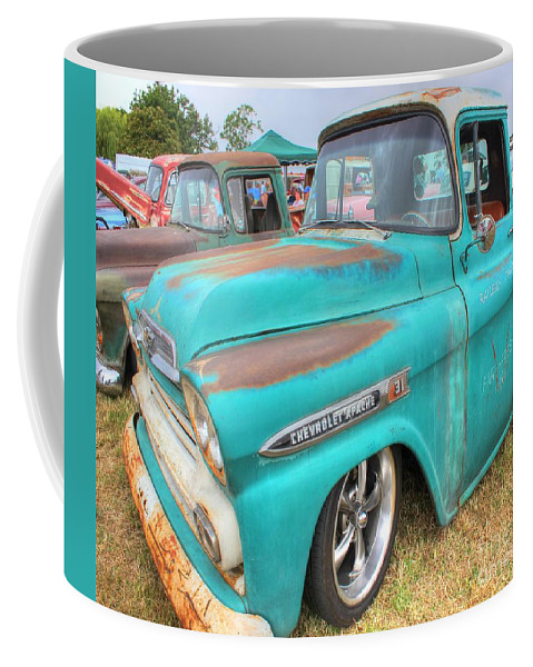 Chevrolet Coffee Mug featuring the photograph Chevrolet Apache by Vicki Spindler