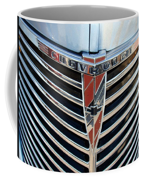 Photography Coffee Mug featuring the photograph Chevrolet Chrome by J R Seymour