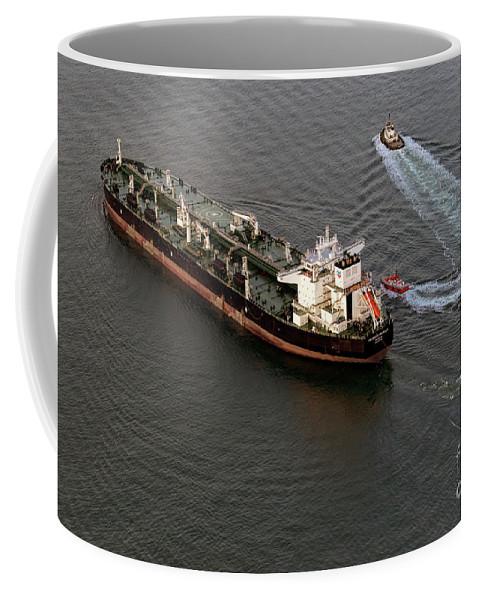 Chevron Coffee Mug featuring the photograph Chevron Pegasus Voyager Oil Tanker by David Oppenheimer