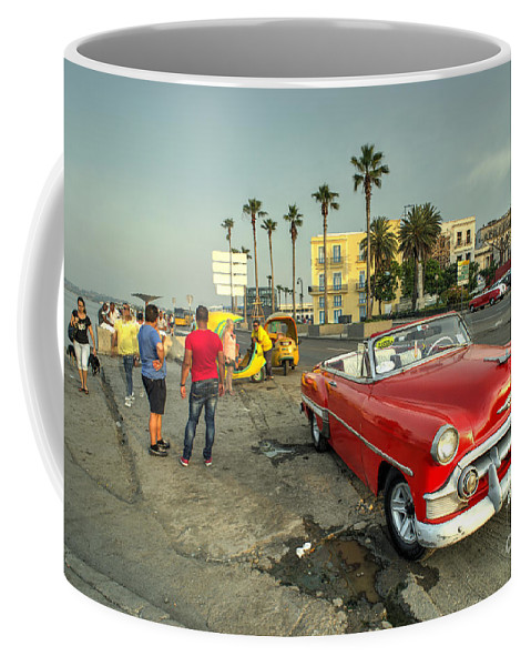 Chevy Coffee Mug featuring the photograph Chevy On The Prom by Rob Hawkins