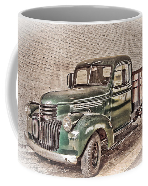 Truck Coffee Mug featuring the digital art Chevy Truck by Ches Black