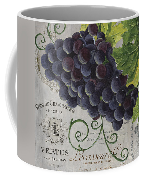 Grapes Coffee Mug featuring the painting Vins de Champagne 2 by Debbie DeWitt