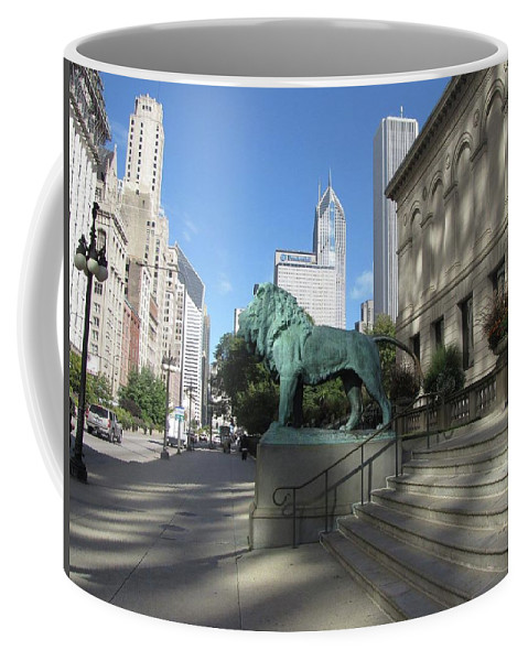 Landscape Coffee Mug featuring the photograph Chicago Art by George Powell