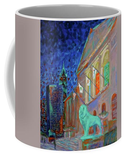 Chicago Art Institute Coffee Mug featuring the painting Chicago Art Institute by J Loren Reedy