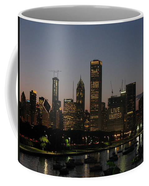 Chicago Coffee Mug featuring the photograph Chicago At Night by Brittany Horton