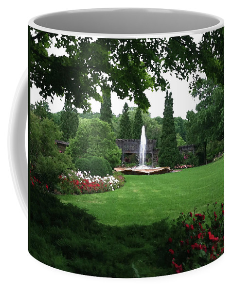 Landscape Coffee Mug featuring the photograph Chicago Botanical Gardens Landscape by Steve Karol
