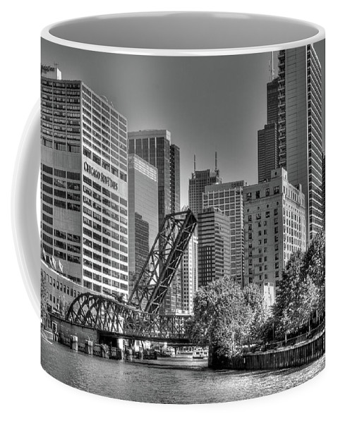 Chicago Coffee Mug featuring the photograph Chicago Bridges by Jim Cole