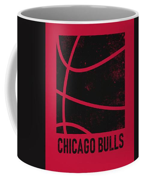 Bulls Coffee Mug featuring the mixed media Chicago Bulls City Poster Art 2 by Joe Hamilton