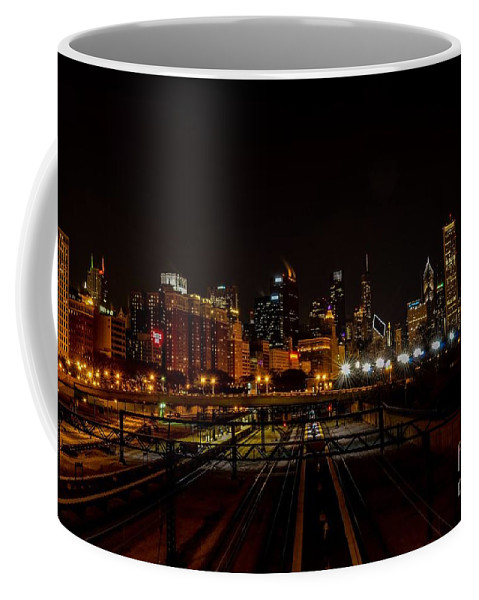 Chicago Coffee Mug featuring the photograph Chicago By Night by Fabio Carvalho