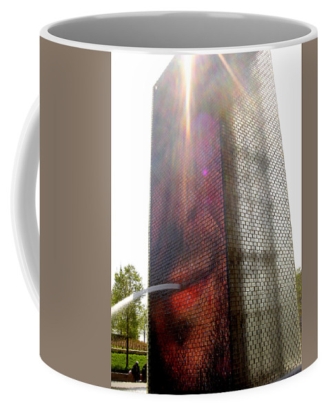 Chicago Coffee Mug featuring the photograph Chicago Crown Fountain 4 by Jean Macaluso