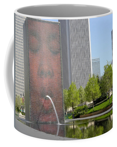 Chicago Coffee Mug featuring the photograph Chicago Crown Fountain 8 by Jean Macaluso
