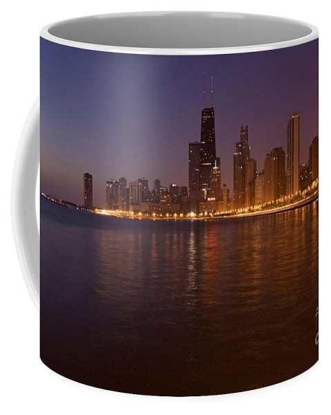 Chicago Skyline Coffee Mug featuring the photograph Chicago Dawn by Sven Brogren