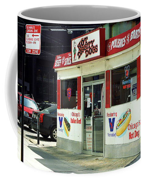 America Coffee Mug featuring the photograph Chicago Dogs by Frank Romeo