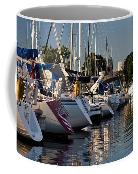 Boats Coffee Mug featuring the photograph Chicago Harbor Scene by Sven Brogren