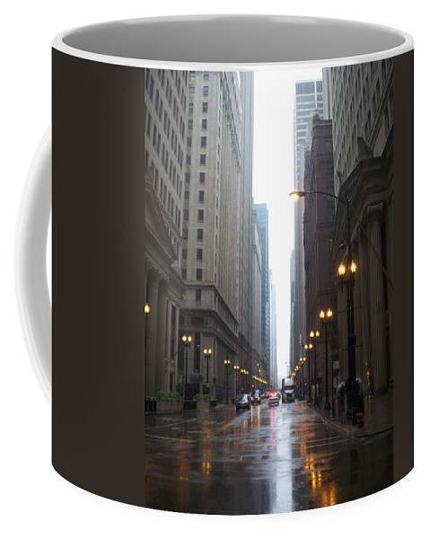 Chicago Coffee Mug featuring the photograph Chicago In The Rain 2 by Anita Burgermeister
