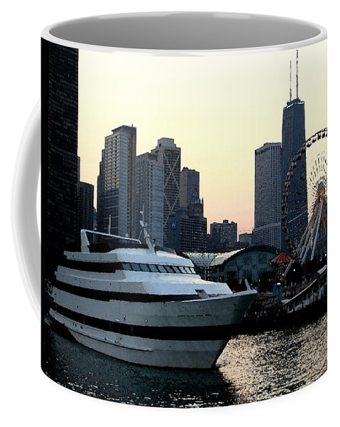 Photo Coffee Mug featuring the photograph Chicago Navy Pier by Glory Fraulein Wolfe