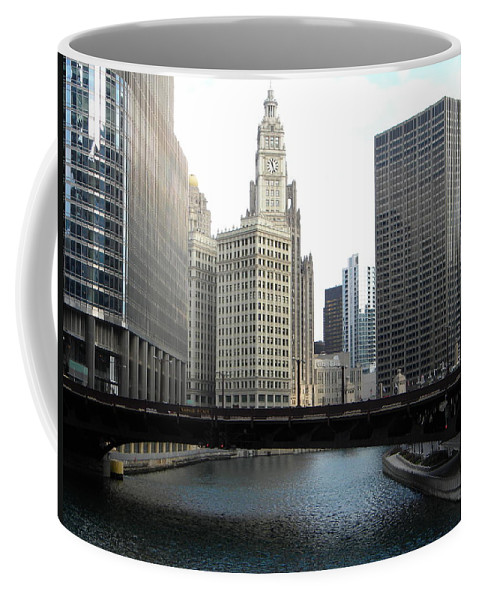 Chicago Coffee Mug featuring the photograph Chicago River by Jan Gilmore