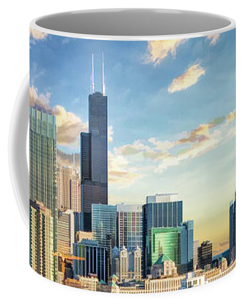 Chicago Coffee Mug featuring the painting Chicago River North by Christopher Arndt