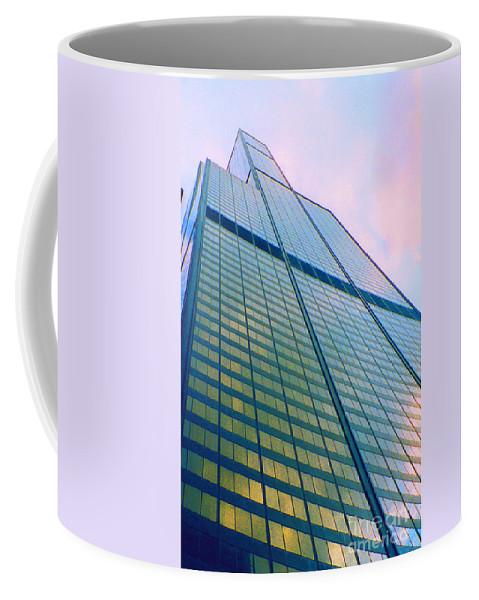 First Star Art By Jrr Coffee Mug featuring the photograph Chicago Sears Willis Tower Pop Art by First Star Art