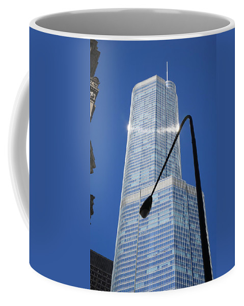America Coffee Mug featuring the photograph Chicago Skyscraper by Frank Romeo