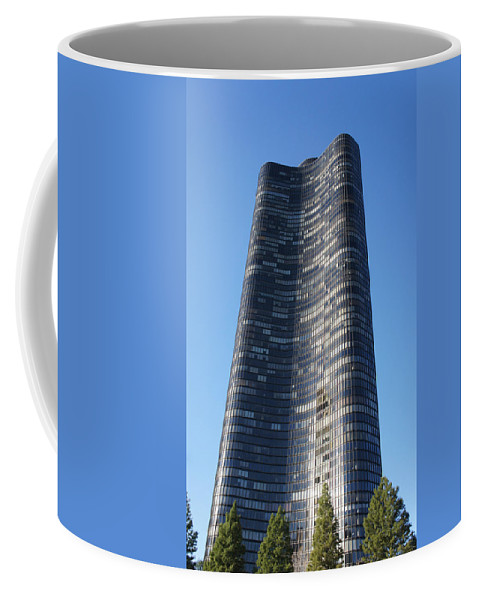 Shore Coffee Mug featuring the photograph Chicago Skyscraper by Art Spectrum