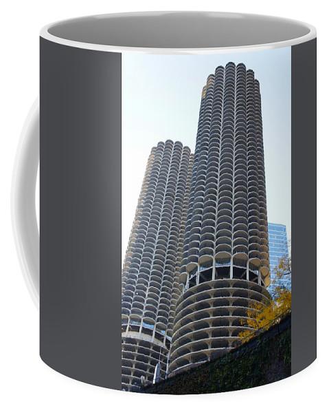 Marina Coffee Mug featuring the photograph Chicago Twin Corn Cob Building by Art Spectrum