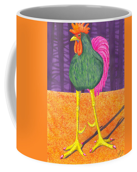 Rooster Coffee Mug featuring the painting Chicken Legs by Catherine G McElroy