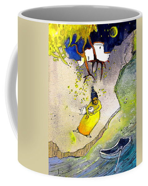 Child Coffee Mug featuring the painting Child Abandon by Miki De Goodaboom