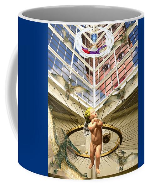 Digital Art Coffee Mug featuring the digital art Child Wonder by Keith Dillon