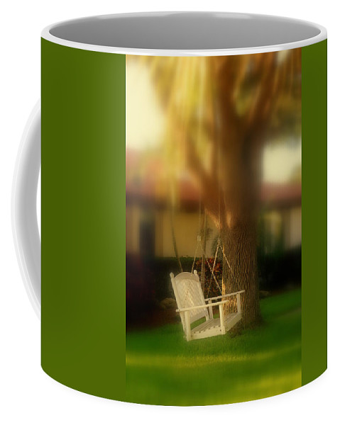Swing Coffee Mug featuring the photograph Childhood Memories by Susanne Van Hulst