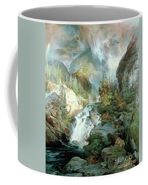 Children Of The Mountain Coffee Mug featuring the painting Children Of The Mountain by Thomas Moran