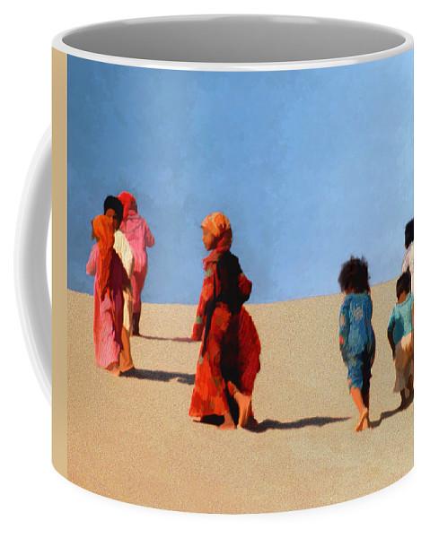 Children Coffee Mug featuring the photograph Children Of The Sinai by Kurt Van Wagner