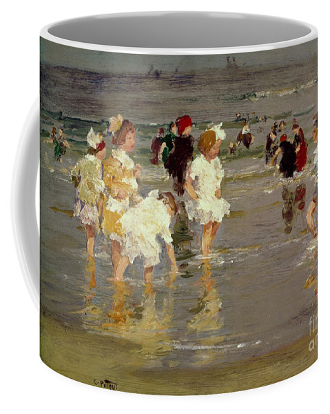 Water Coffee Mug featuring the painting Children On The Beach by Edward Henry Potthast