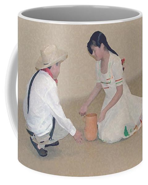 Children Coffee Mug featuring the digital art Children Playing by Robert Meanor