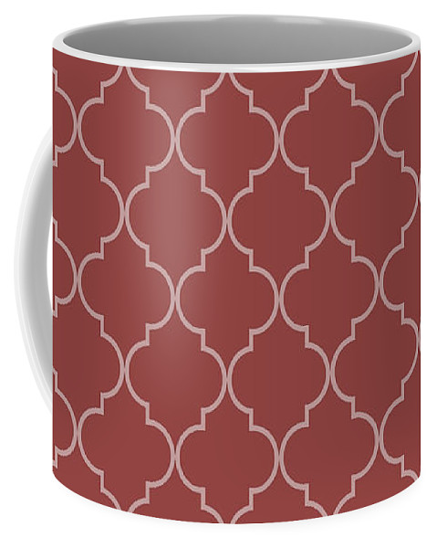 Quatrefoil Coffee Mug featuring the digital art Chili Oil Quatrefoil by Ashley Wann