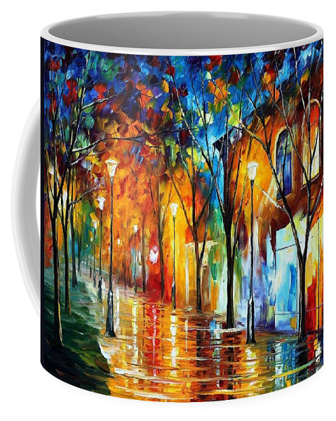 Afremov Coffee Mug featuring the painting Chill Energy by Leonid Afremov