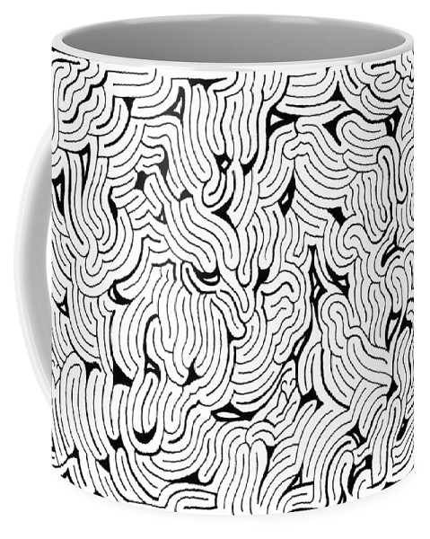 Mazes Coffee Mug featuring the drawing Chilling by Steven Natanson