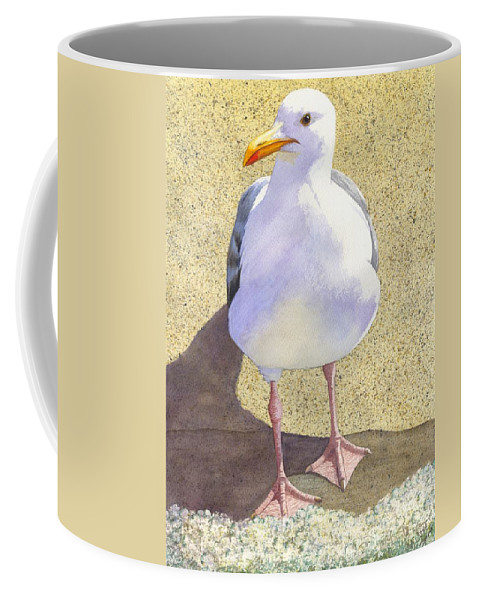 Seagull Coffee Mug featuring the painting Chilly by Catherine G McElroy