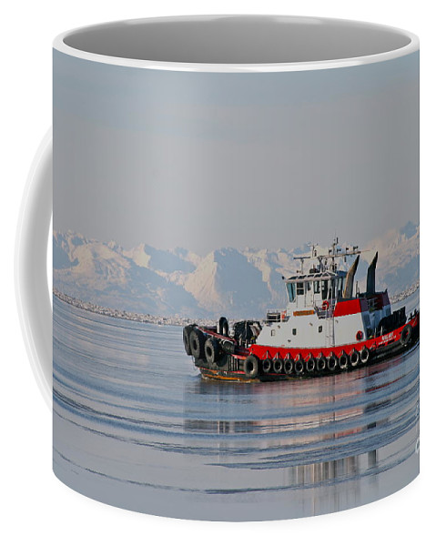 Ocean Coffee Mug featuring the photograph Chilly Waters by Rick Monyahan
