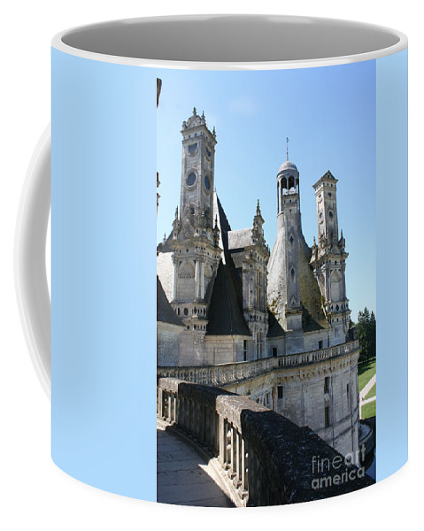 Chimney Coffee Mug featuring the photograph Chimney From Chambord - Loire by Christiane Schulze Art And Photography
