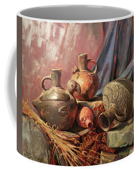 Peru Coffee Mug featuring the painting Chimu by Steve Henderson