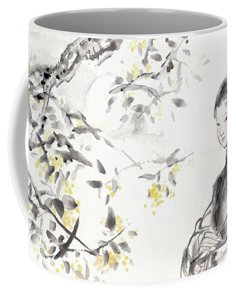 China Coffee Mug featuring the painting China Ancient Female by Wu Shanming