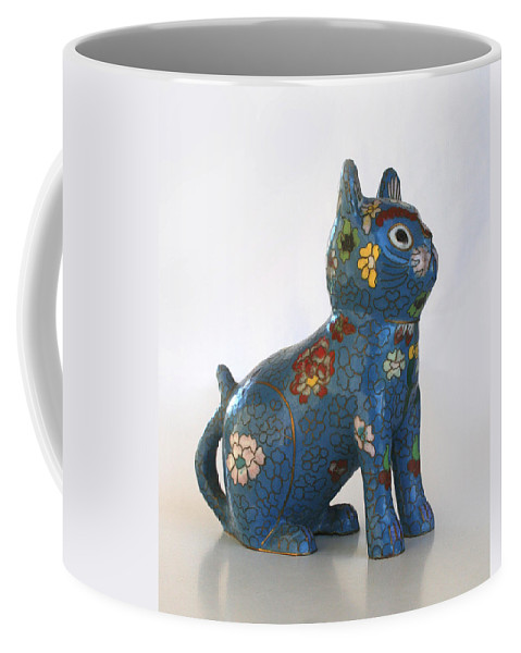 Cat Coffee Mug featuring the photograph China Cat by Marna Edwards Flavell